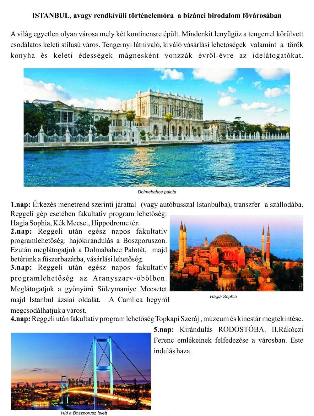 egyetlen ünnep istanbul